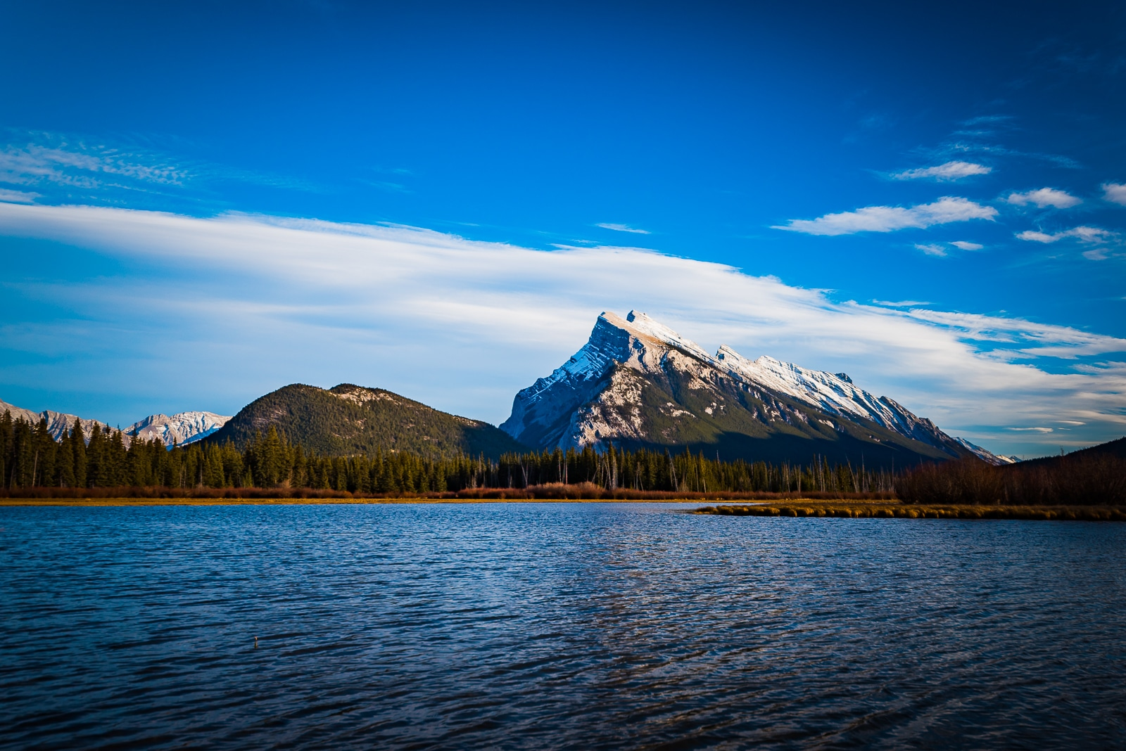 Mount Rundle from the Vermillion Lakes.